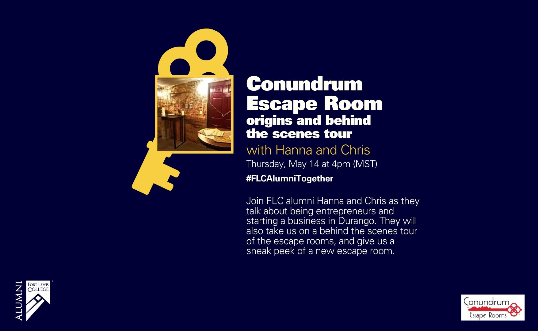 conundrum escape room promo